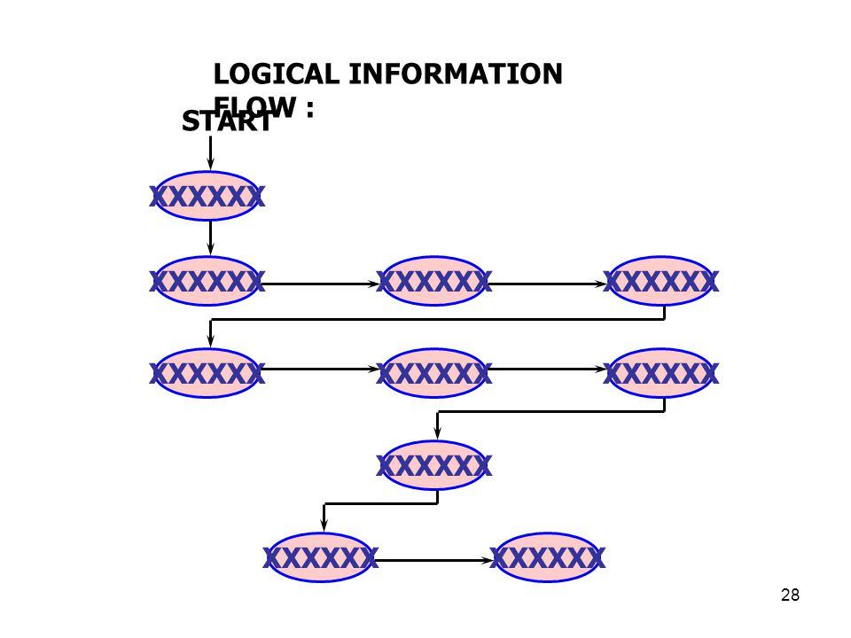 LOGICAL INFORMATION FLOW :