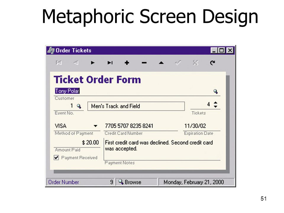 Metaphoric Screen Design