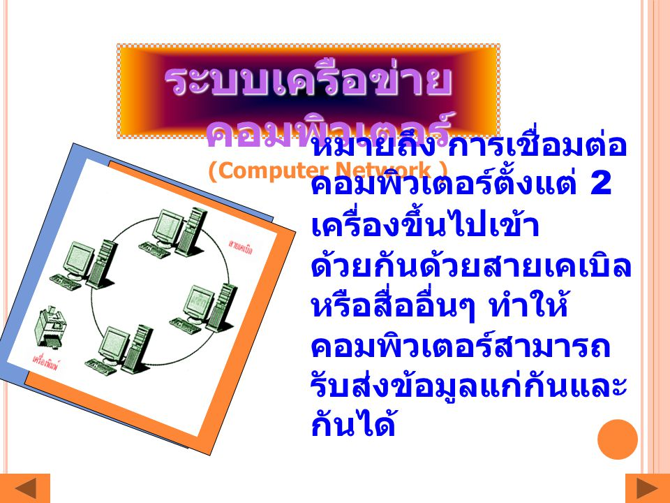 ระบบเครือข่ายคอมพิวเตอร์ (Computer Network )