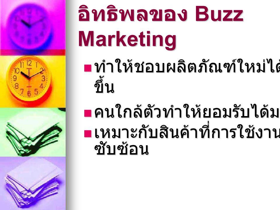 อิทธิพลของ Buzz Marketing
