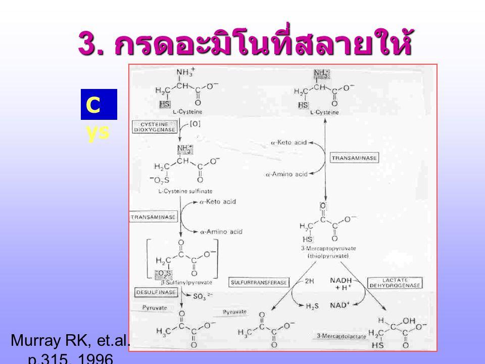 3. กรดอะมิโนที่สลายให้ Pyruvate