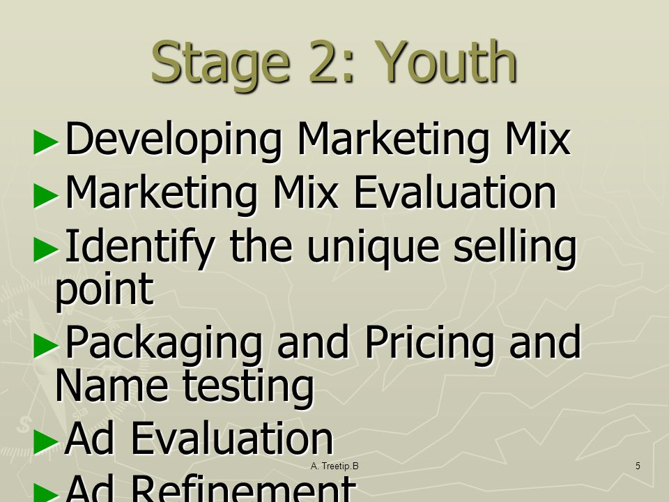 Stage 2: Youth Developing Marketing Mix Marketing Mix Evaluation