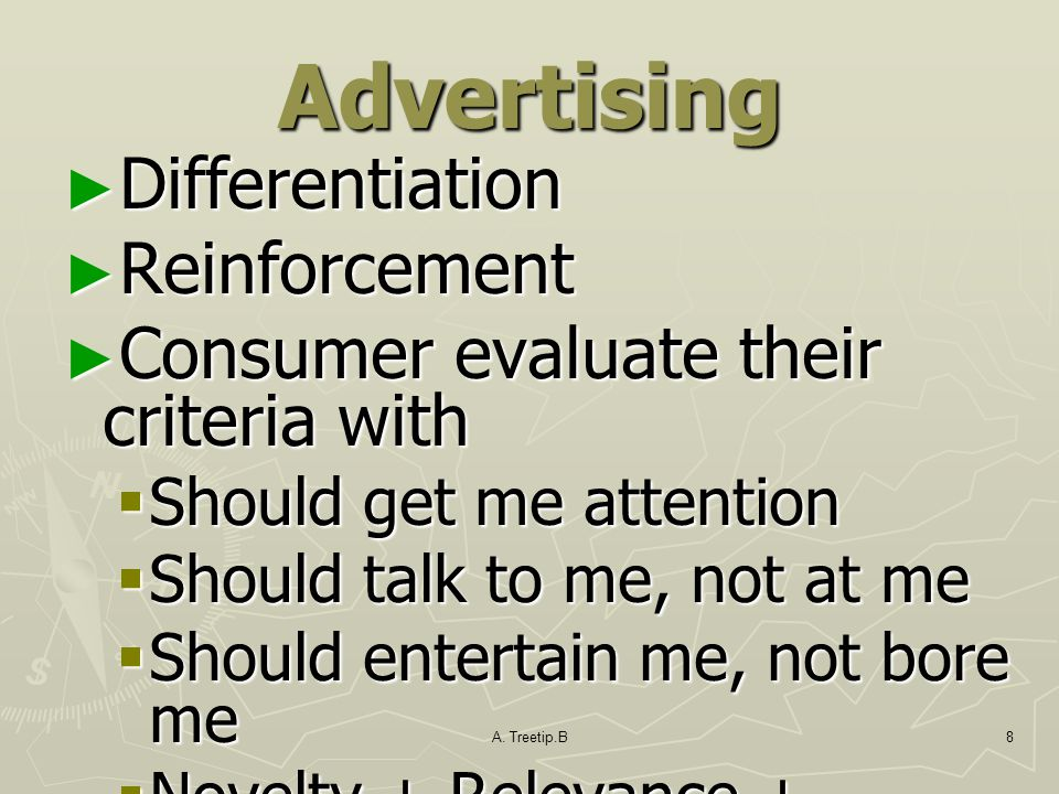 Advertising Differentiation Reinforcement