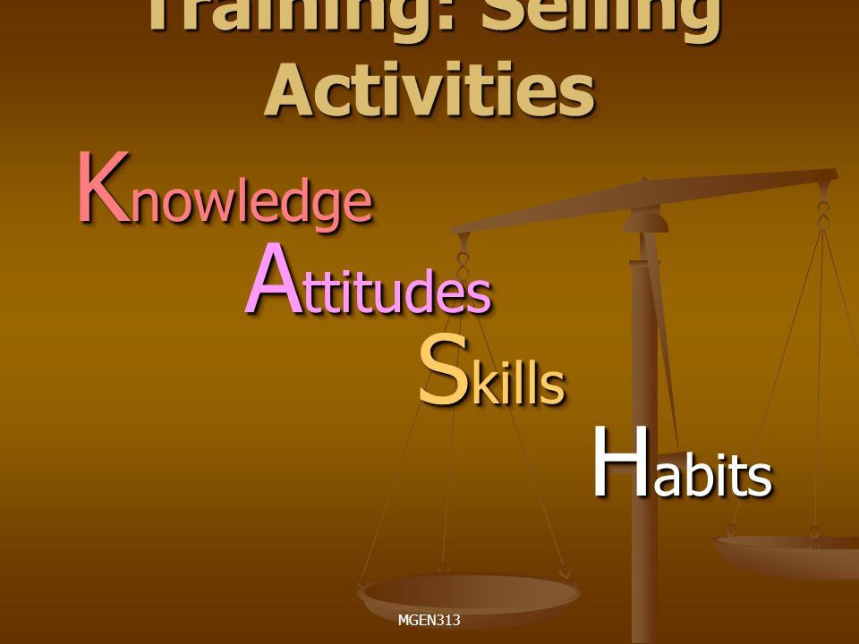 Training: Selling Activities