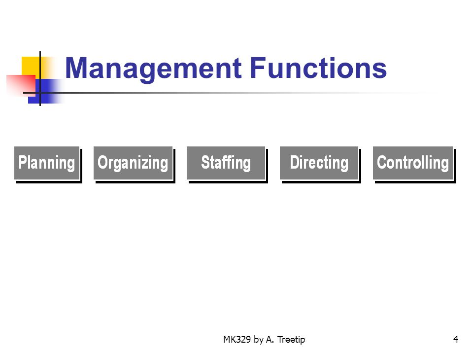 Management Functions MK329 by A. Treetip