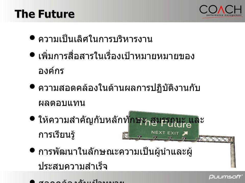 The Future ความเป็นเลิศในการบริหารงาน
