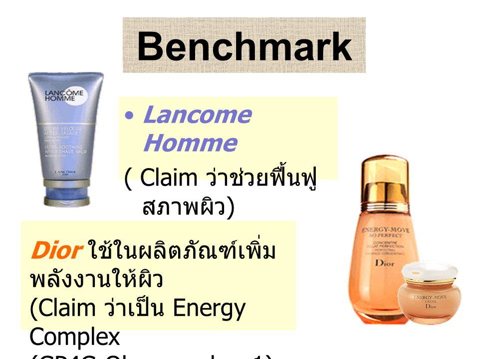 Benchmark Lancome Homme ( Claim ว่าช่วยฟื้นฟูสภาพผิว)