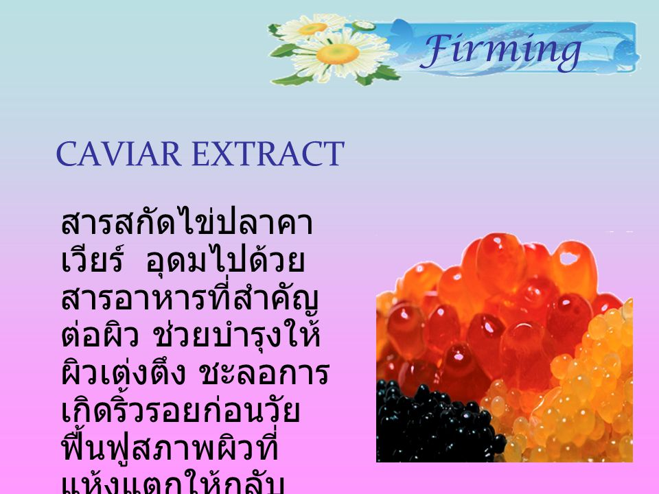 Firming CAVIAR EXTRACT
