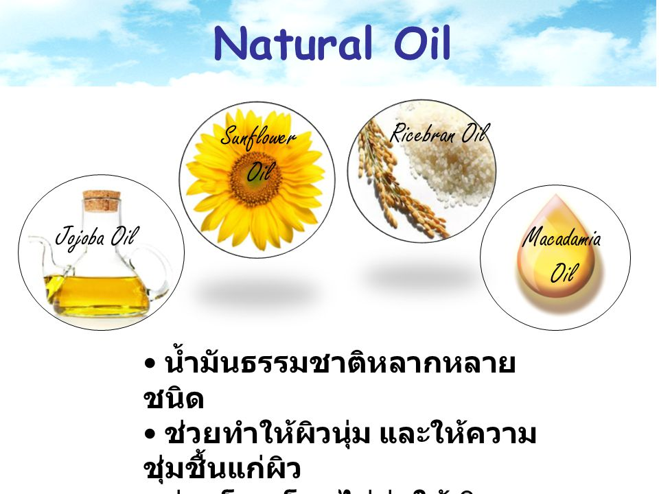 Natural Oil Ricebran Oil Sunflower Oil Jojoba Oil Macadamia Oil