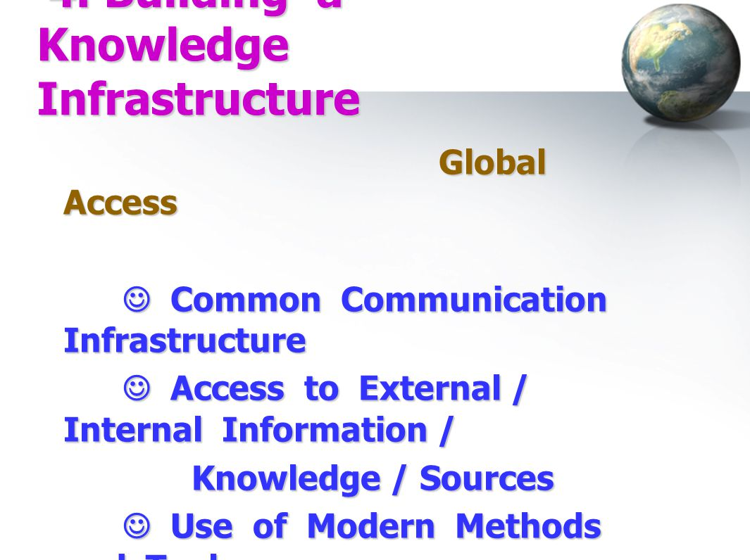 4. Building a Knowledge Infrastructure