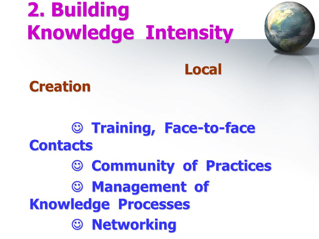 2. Building Knowledge Intensity