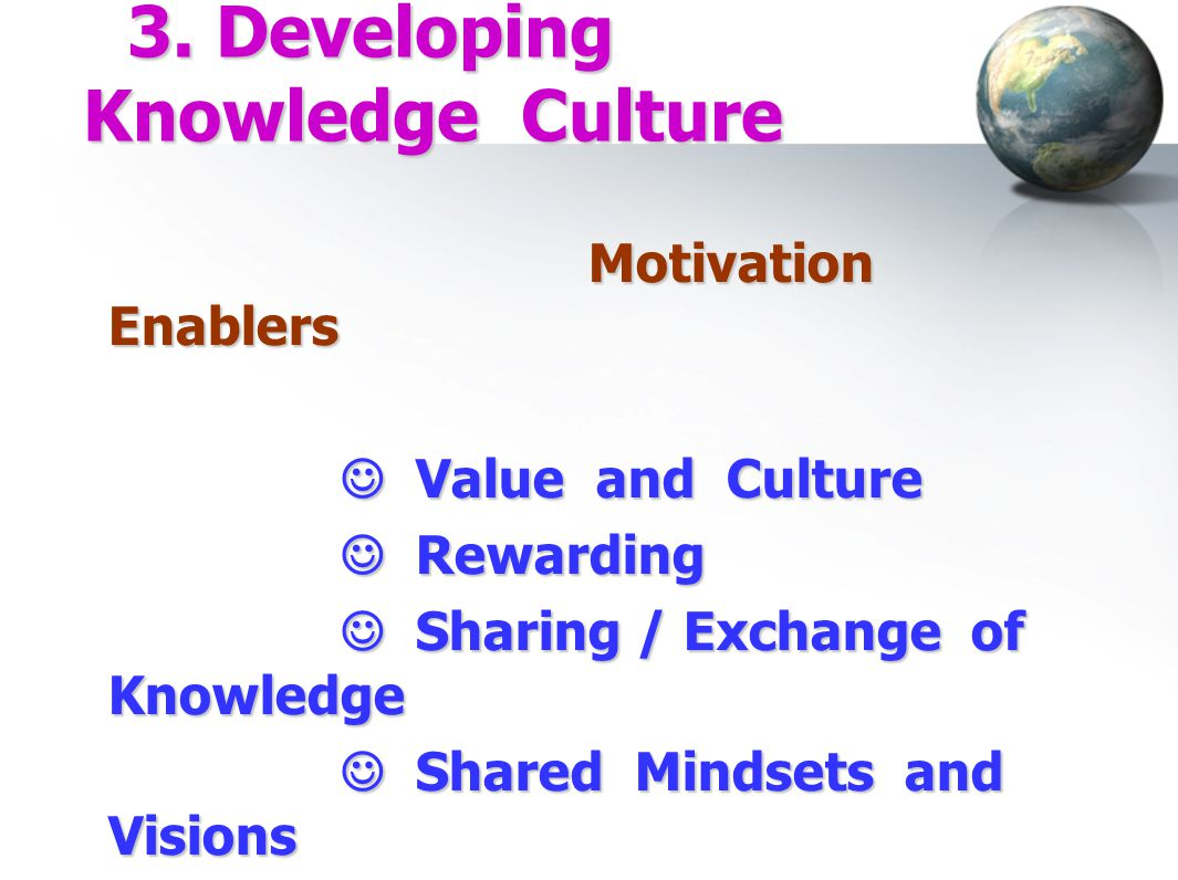 3. Developing Knowledge Culture