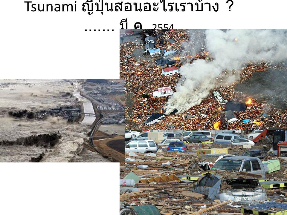 Tsunami ญี่ปุ่นสอนอะไรเราบ้าง ....... มี.ค. 2554