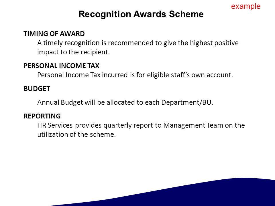 Recognition Awards Scheme