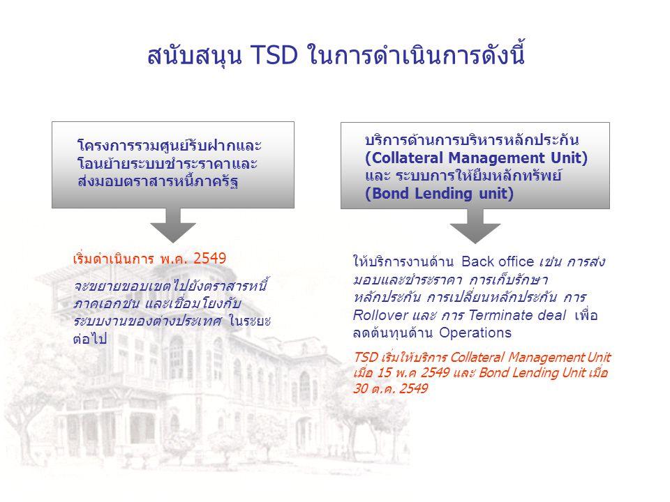 สนับสนุน TSD ในการดำเนินการดังนี้