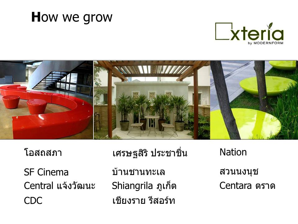 How we grow โอสถสภา Nation เศรษฐสิริ ประชาชื่น SF Cinema บ้านชานทะเล