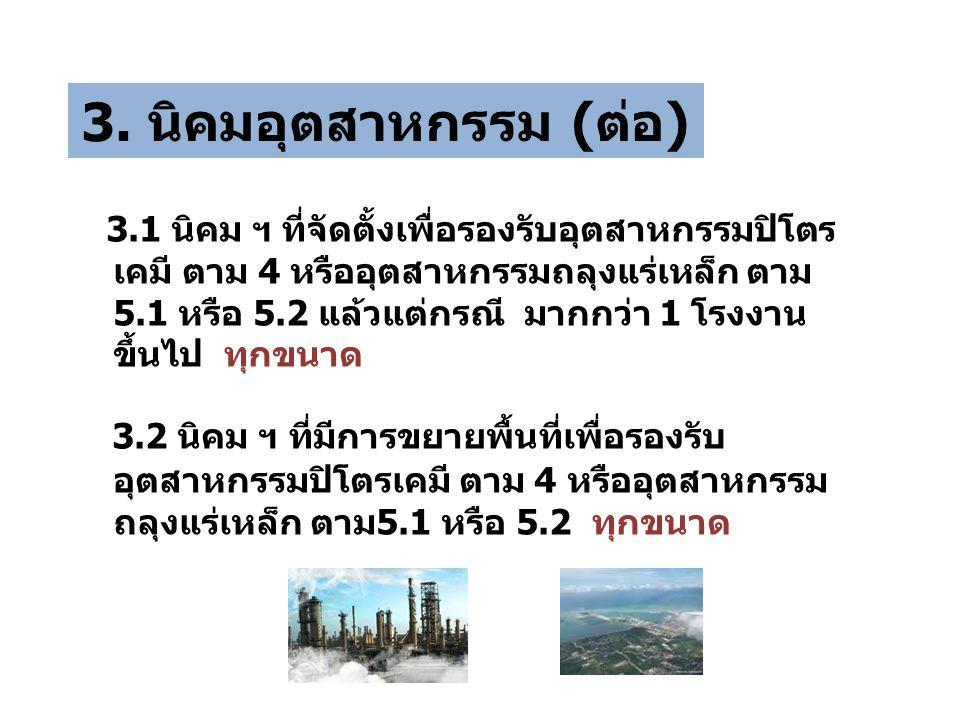 3. นิคมอุตสาหกรรม (ต่อ)
