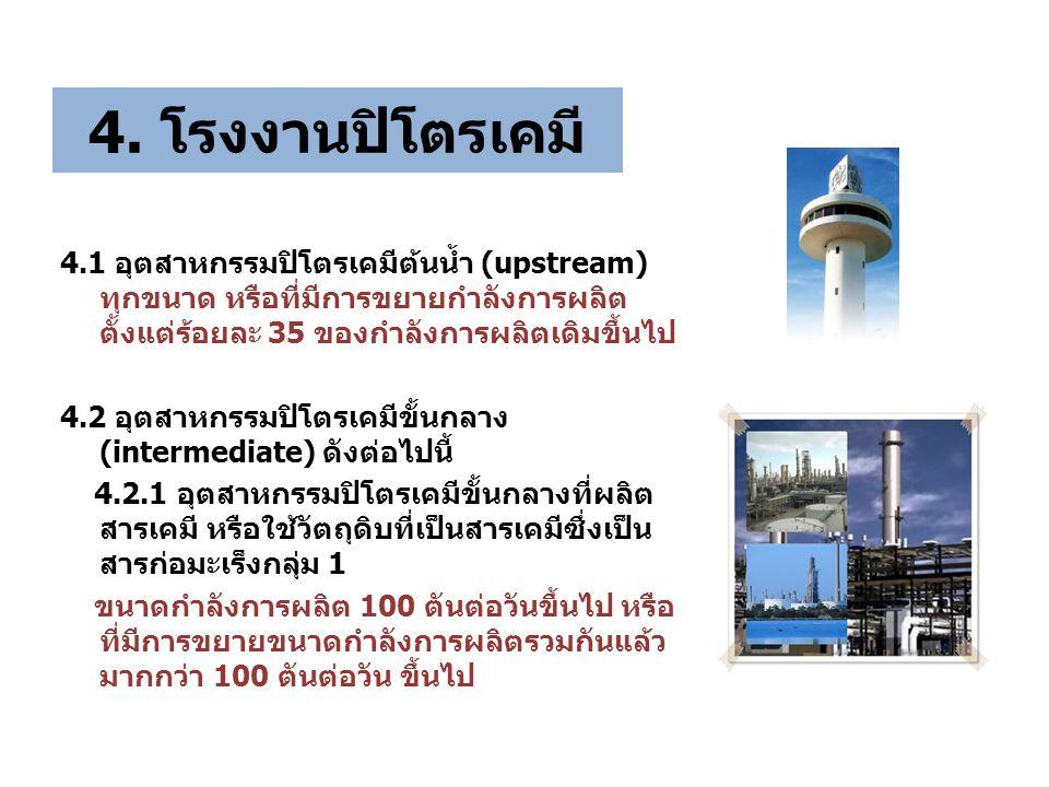 4. โรงงานปิโตรเคมี
