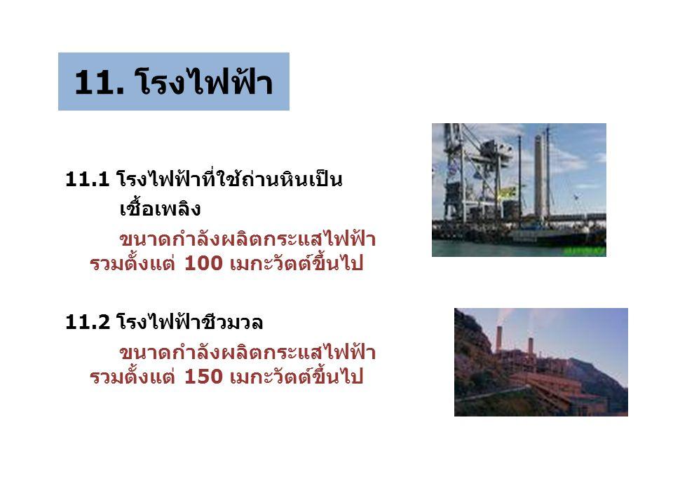 11. โรงไฟฟ้า