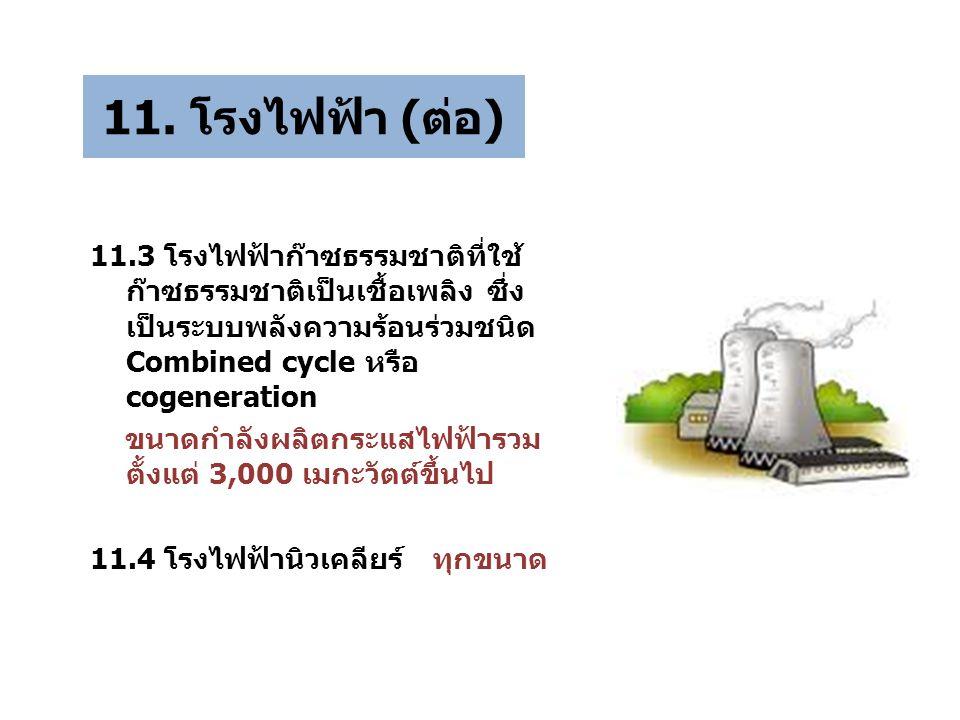 11. โรงไฟฟ้า (ต่อ)