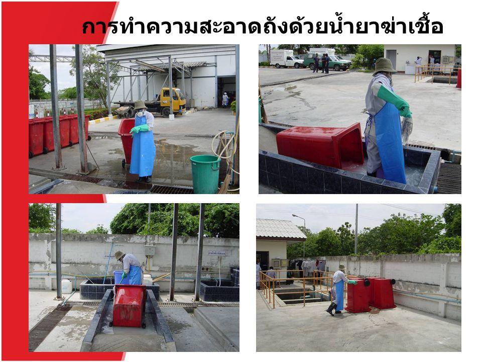 การทำความสะอาดถังด้วยน้ำยาฆ่าเชื้อ