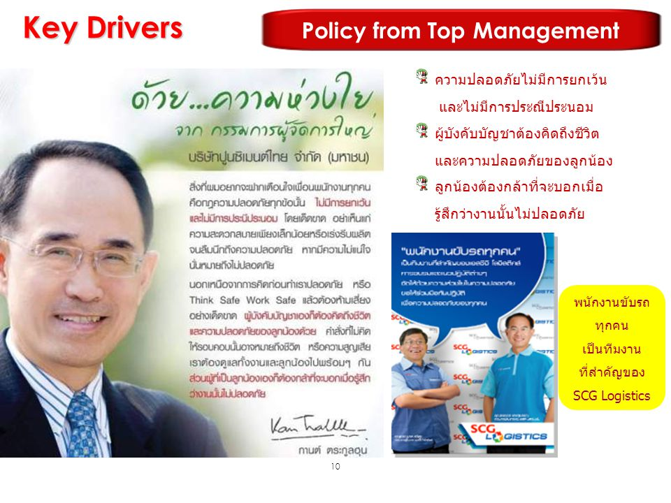 Policy from Top Management