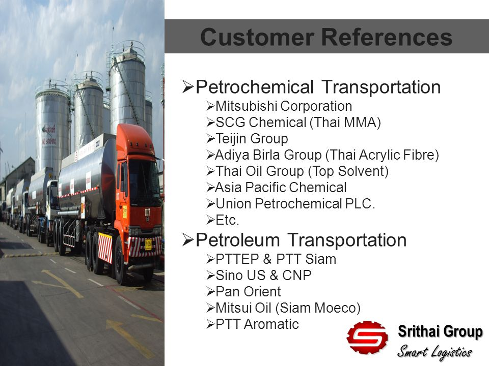 Customer References Petrochemical Transportation