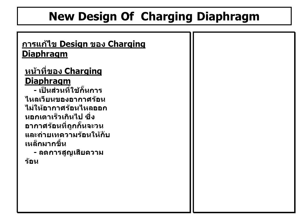 New Design Of Charging Diaphragm