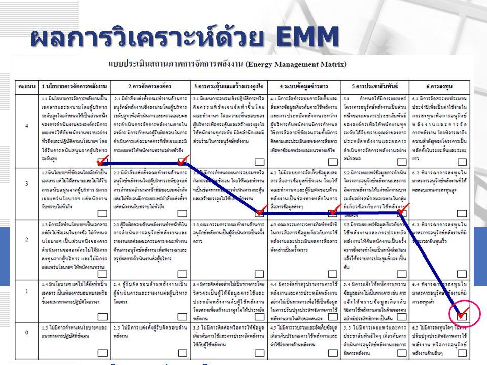 ผลการวิเคราะห์ด้วย EMM