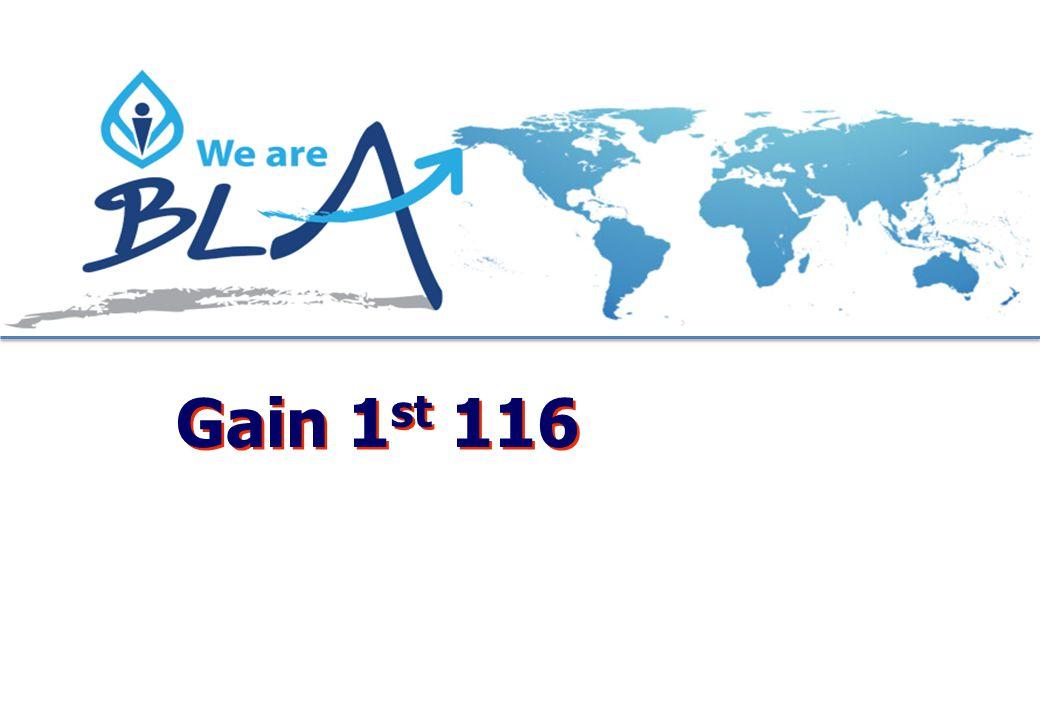 Gain 1st 116
