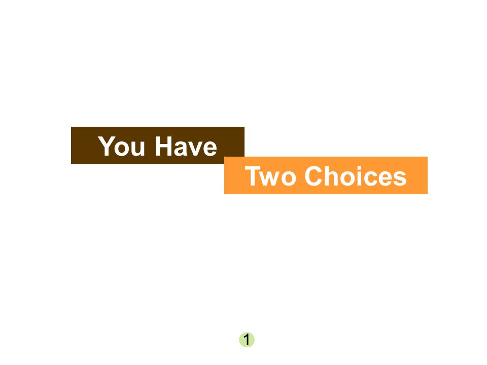 You Have Two Choices 1