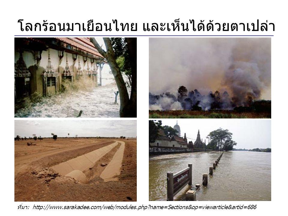 โลกร้อนมาเยือนไทย และเห็นได้ด้วยตาเปล่า