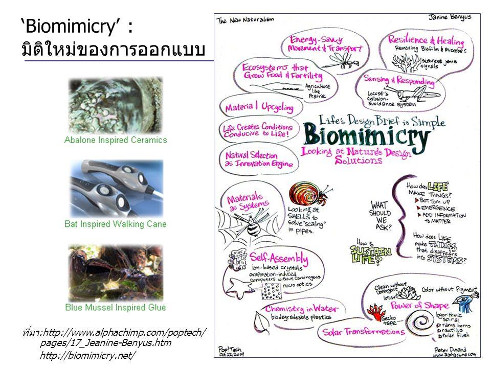 'Biomimicry' : มิติใหม่ของการออกแบบ