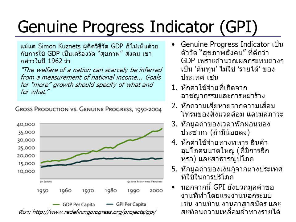 Genuine Progress Indicator (GPI)