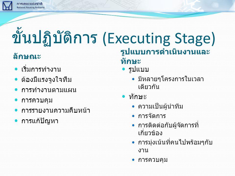 ขั้นปฏิบัติการ (Executing Stage)