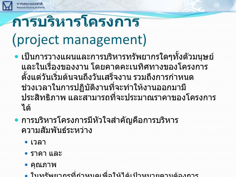 การบริหารโครงการ (project management)