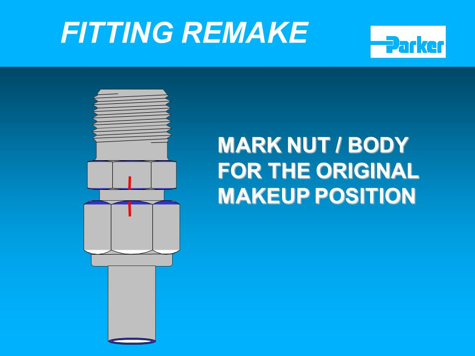 FITTING REMAKE MARK NUT / BODY FOR THE ORIGINAL MAKEUP POSITION