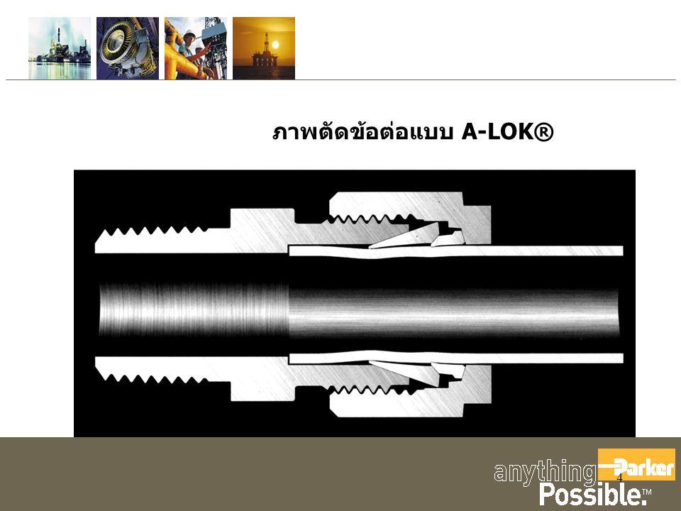 ภาพตัดข้อต่อแบบ A-LOK®