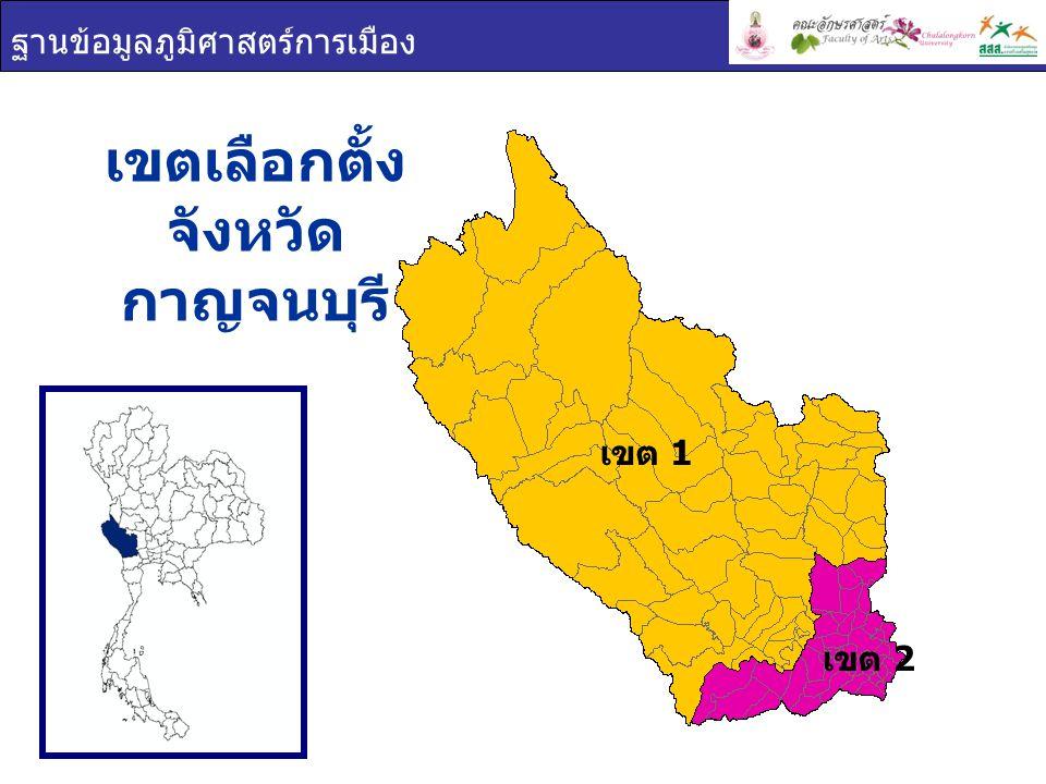 เขตเลือกตั้ง จังหวัดกาญจนบุรี