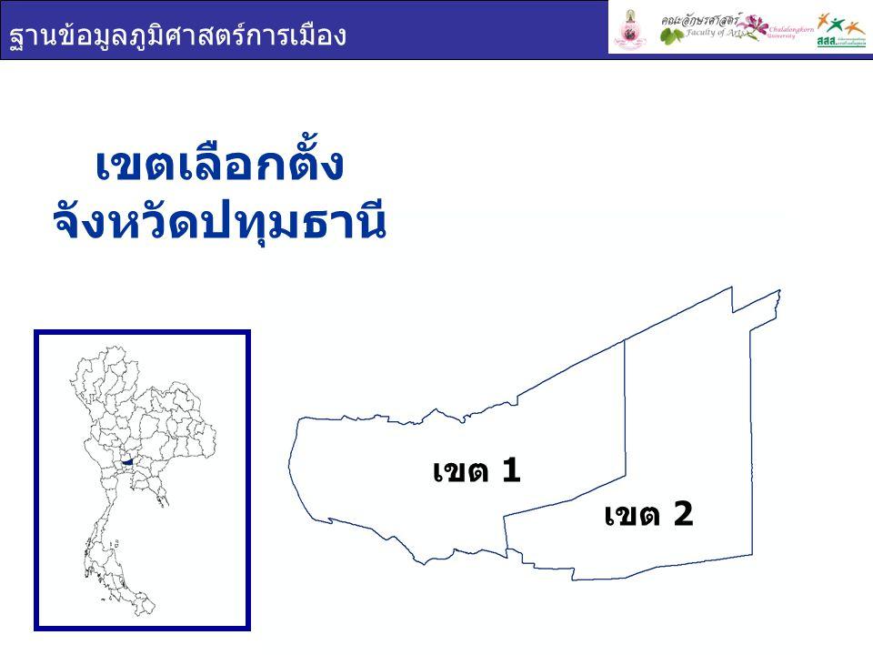 เขตเลือกตั้ง จังหวัดปทุมธานี