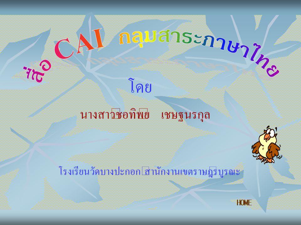 สื่อ CAI กลุ่มสาระภาษาไทย