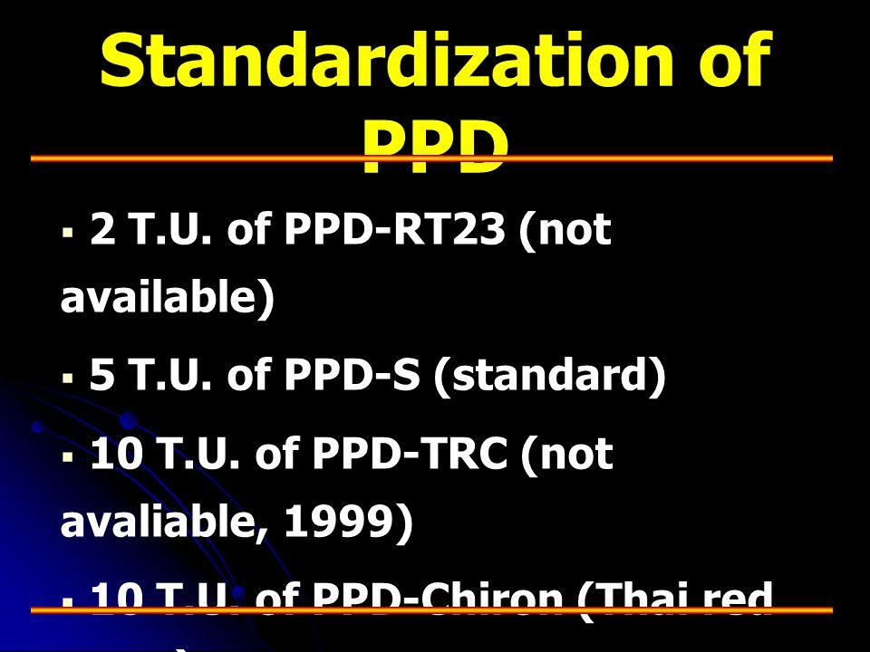 Standardization of PPD