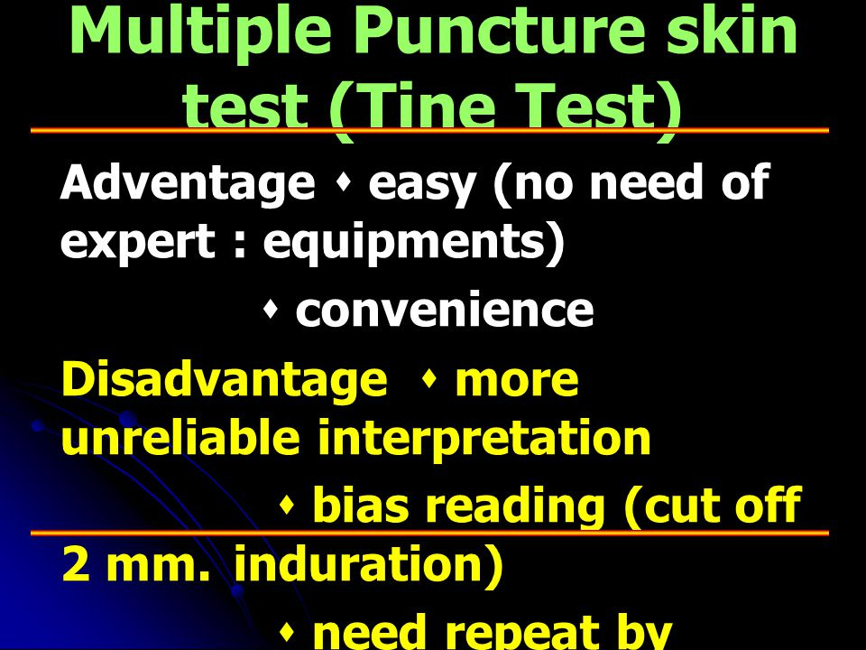 Multiple Puncture skin test (Tine Test)