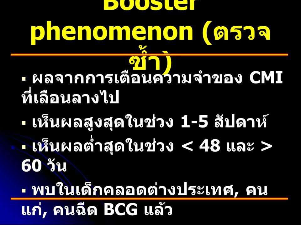 Booster phenomenon (ตรวจซ้ำ)