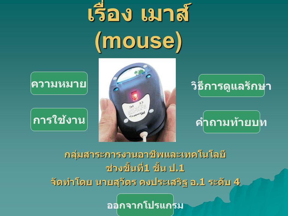 สื่อการเรียนการสอน เรื่อง เมาส์(mouse)