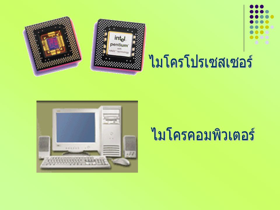 ไมโครโปรเซสเซอร์ ไมโครคอมพิวเตอร์