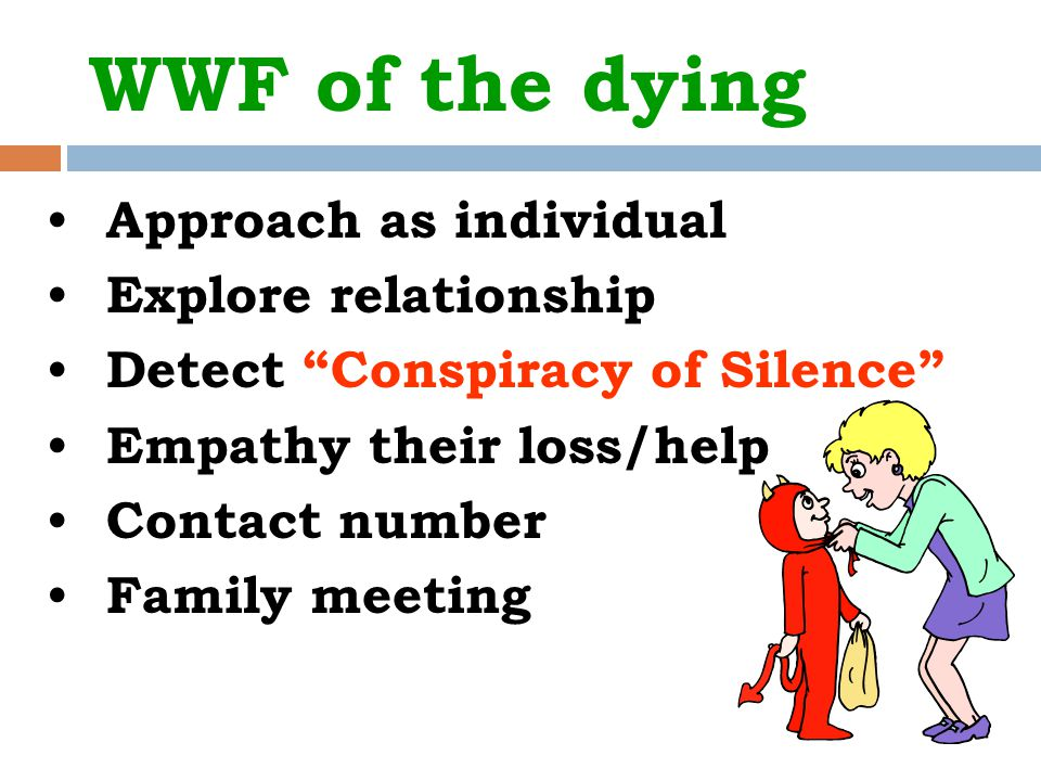 WWF of the dying Approach as individual Explore relationship