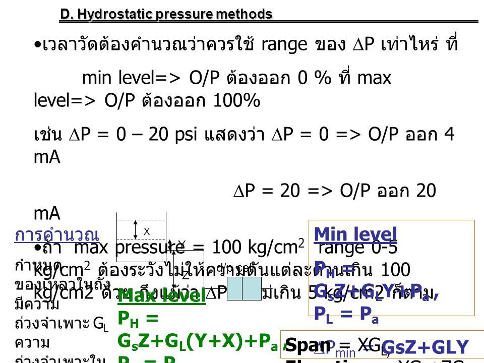 เวลาวัดต้องคำนวณว่าควรใช้ range ของ P เท่าไหร่ ที่
