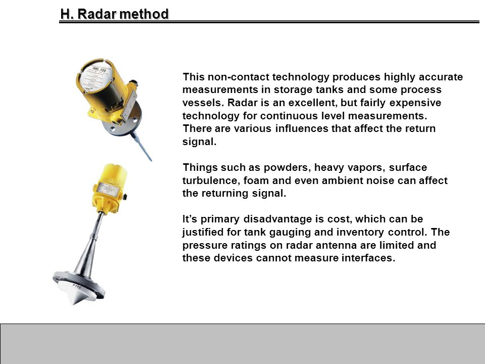 H. Radar method