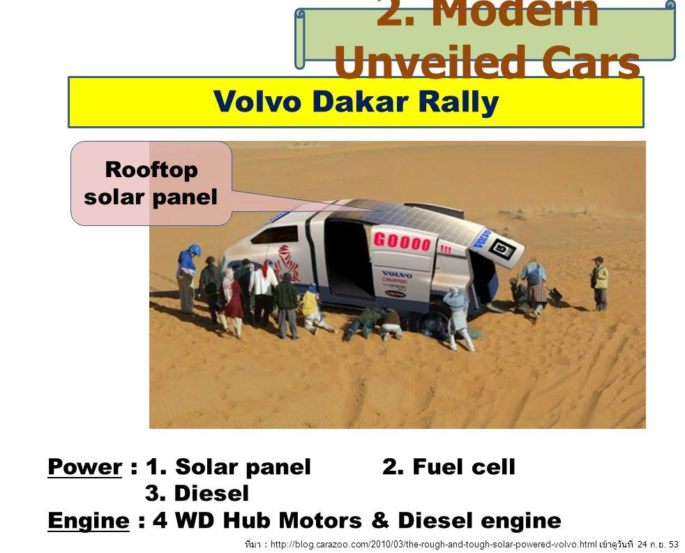 2. Modern Unveiled Cars Volvo Dakar Rally Rooftop solar panel